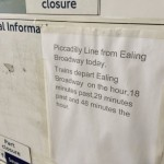 Piccadilly at Ealing Broadway Times