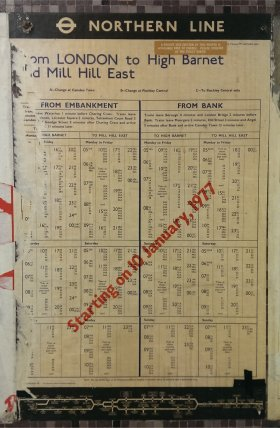 Old Street Timetable