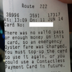 Emergency Fare Ticket