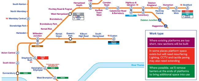Overground extension map