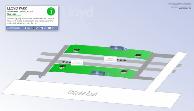 Lloyd Park Tramlink 3D Map