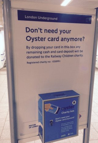 Drop your Oyster card here