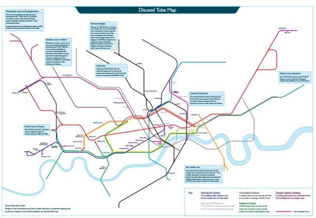 Disused Tube Map
